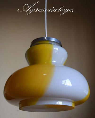 antigua lampara de cristal murano.(envios).