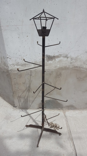antigua lampara de pie en hierro con brazos ideal negocio