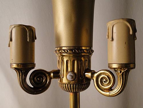 antigua lámpara de pie francesa c bronces pulidos