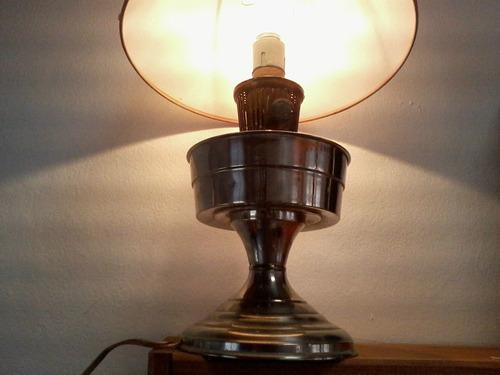 antigua lámpara farol a kerosene hecha eléctrica tipo miller