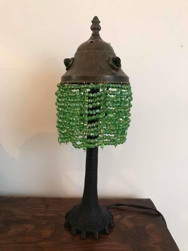 Lámpara 250 Mesa Con Verde1 00 Antigua Cristales JFclK1