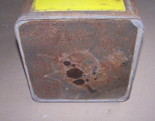 antigua lata aceite shell