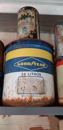 antigua lata aditivo lubricante good year ... grande 24 ltr.