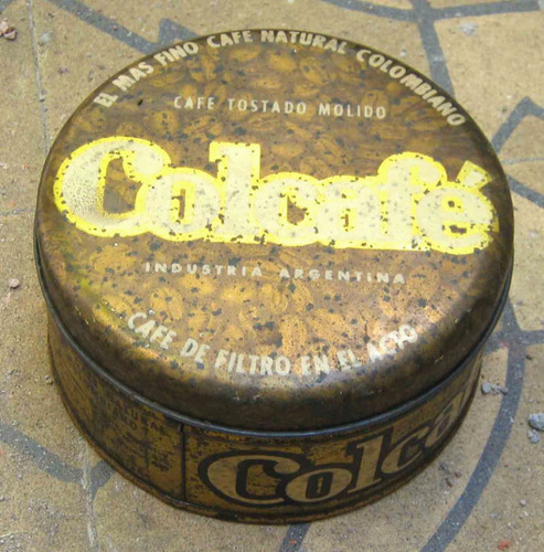 antigua lata colcafe