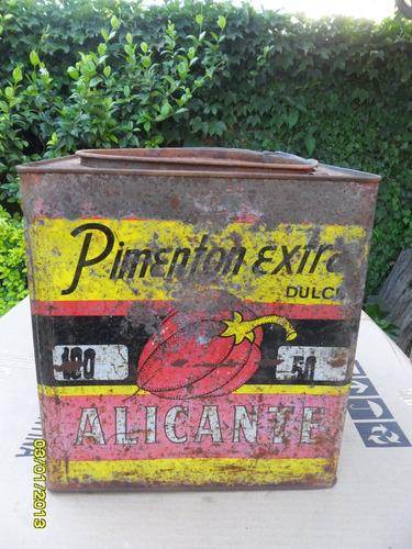 antigua lata de pimenton extra dulce alicante