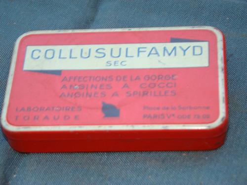 antigua lata de remedio collusulfamyd- muy lindo-