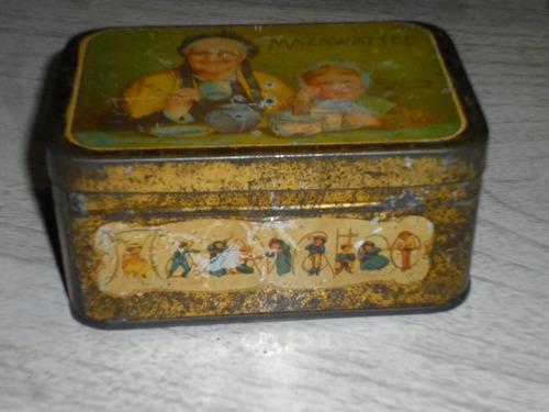 antigua lata de té mazawattee