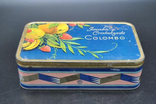 antigua lata goiaba cristalizada confiteria colombo vintage