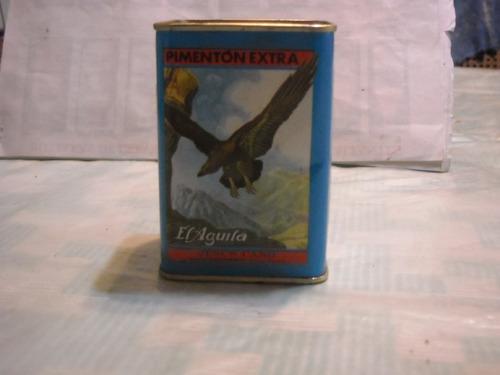antigua lata litografiada de pimenton picante el aguila