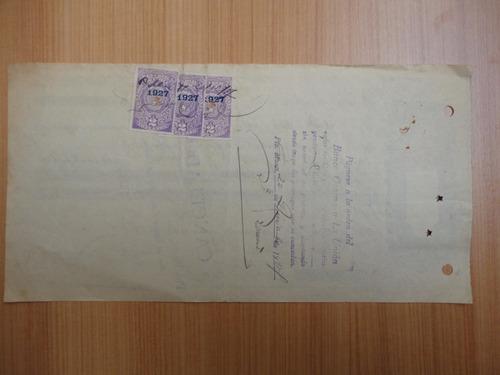 antigua letra de cambio puerto montt  1927