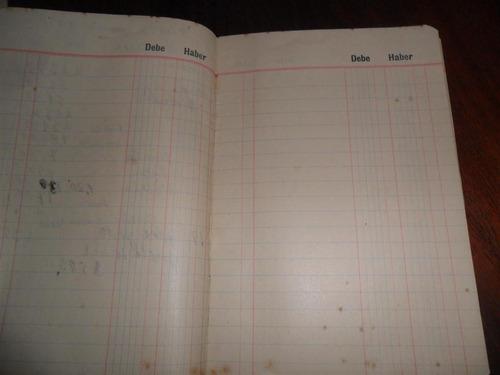 antigua libreta 1950 debe haber gastos costos