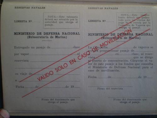 antigua libreta de servicio voluntario en la armada 60 (119