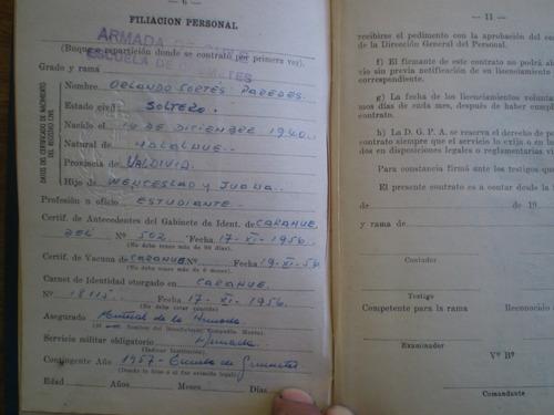 antigua libreta de servicio voluntario en la armada 60 (r782