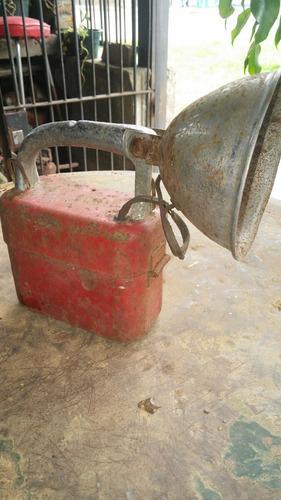 antigua linterna de minero