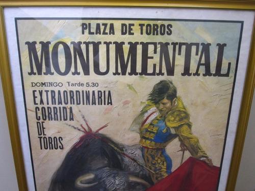 antigua litografía publicitaria de corrida de toros.