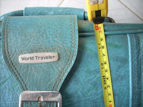 antigua maleta world traveler coleccion decoracion
