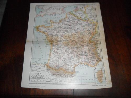 antigua mapa plano francia vienne yonne cantal indre saona