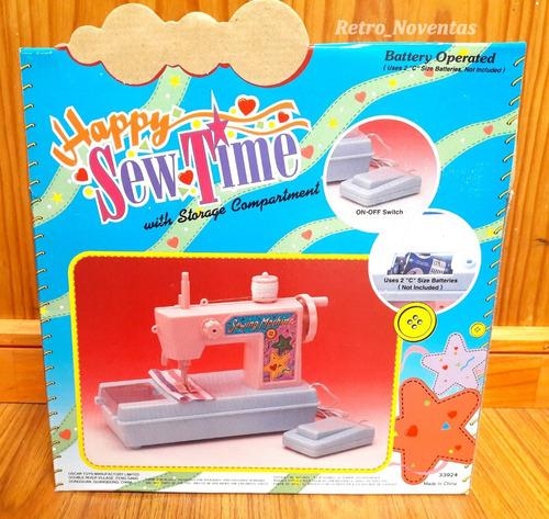antigua máquina coser de juguete vintage funcionando
