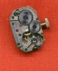 antigua máquina cuadrante reloj titan c1910 15 jewels swiss