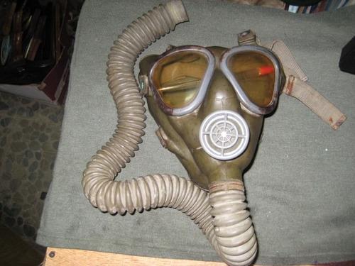 antigua mascara anti gas us army 1942 2a. guerra con bolso