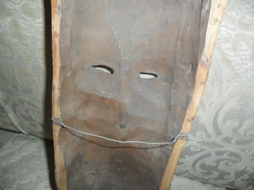 antigua mascara mascaron madera indio aborigen gran tamaño