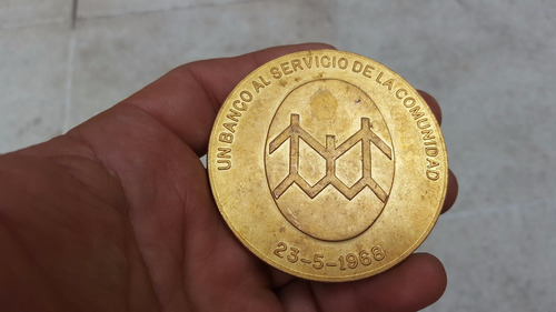 antigua medalla banco municipalidad de bs.as. 1878-1968