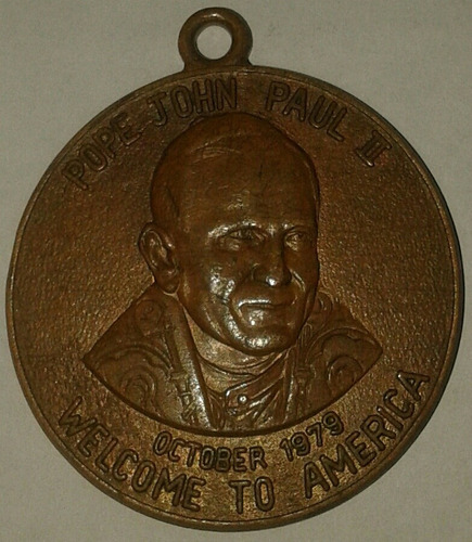antigua medalla de bronce de 1979 del papa juan pablo il