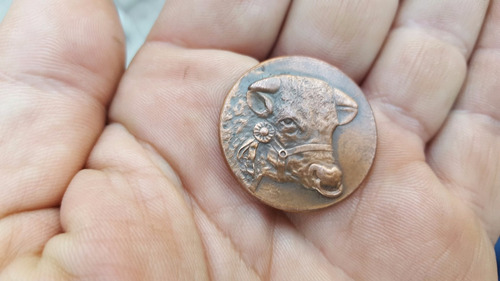 antigua medalla exposicion nacional ganaderia rosario 1929