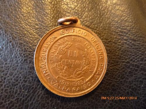 antigua medalla l.  barros borgoña 1913-1924 p .c. de ahorro