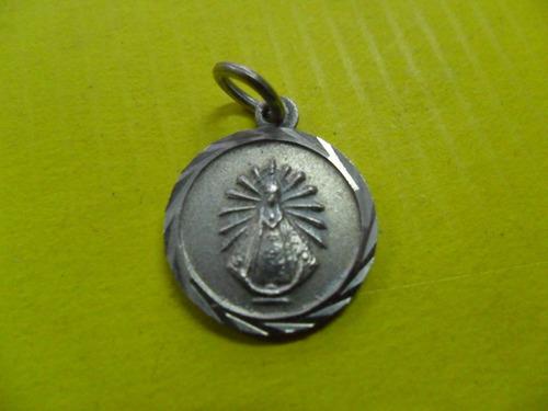 antigua medalla medallita virgen virgencita alpaca