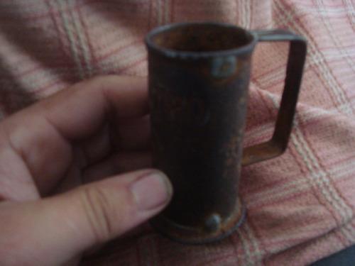 antigua medida d bebida d boliche decilitro mide 9 cm