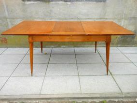 Mesa Madera Antigua Comedor Extensible Muebles Antiguos En Mercado
