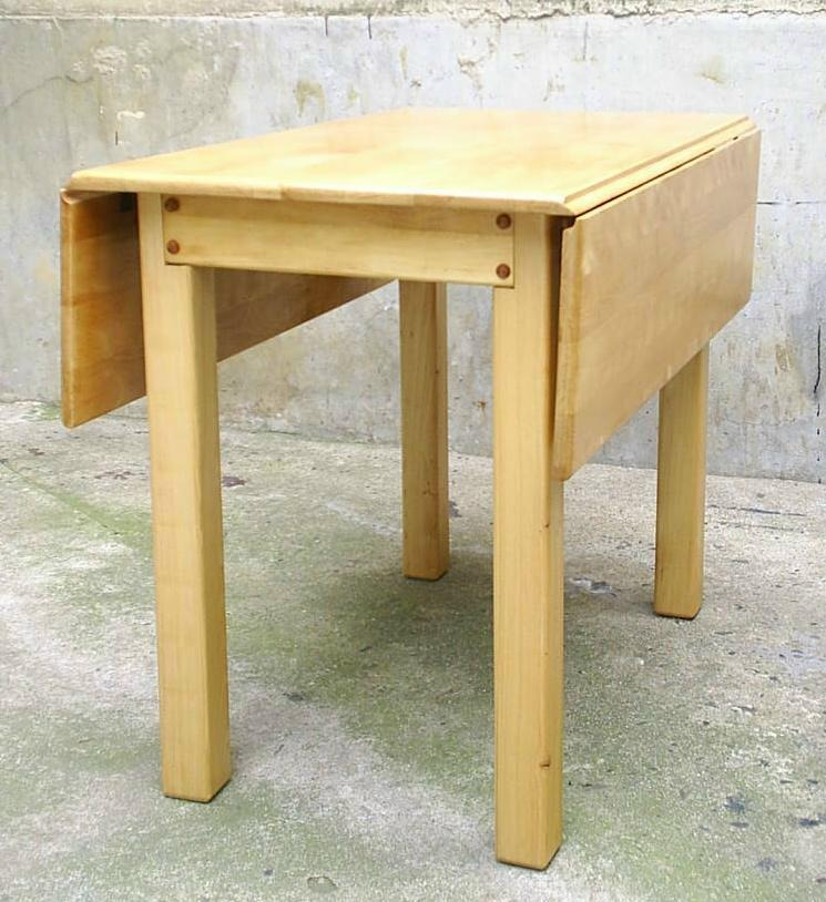 Antigua mesa de arrimo extensible madera noble for Mesas antiguas de madera