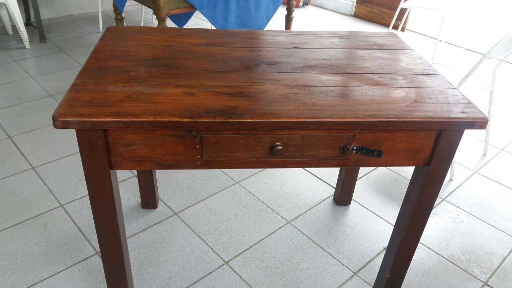 Antigua mesa de campo de madera muy noble excelente - Mesa de campo ...