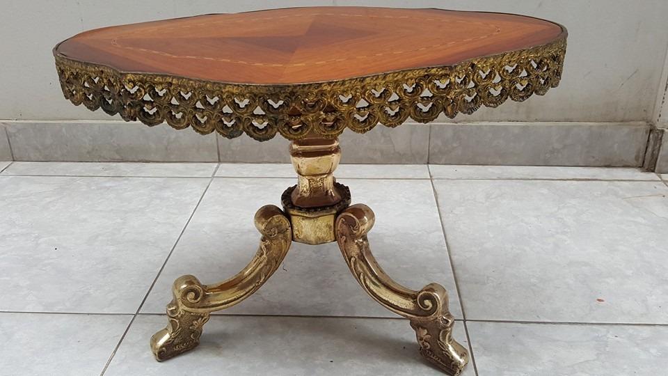 Antigua mesa de centro de bronce macizo gratis envio s for Mesas de centro antiguas