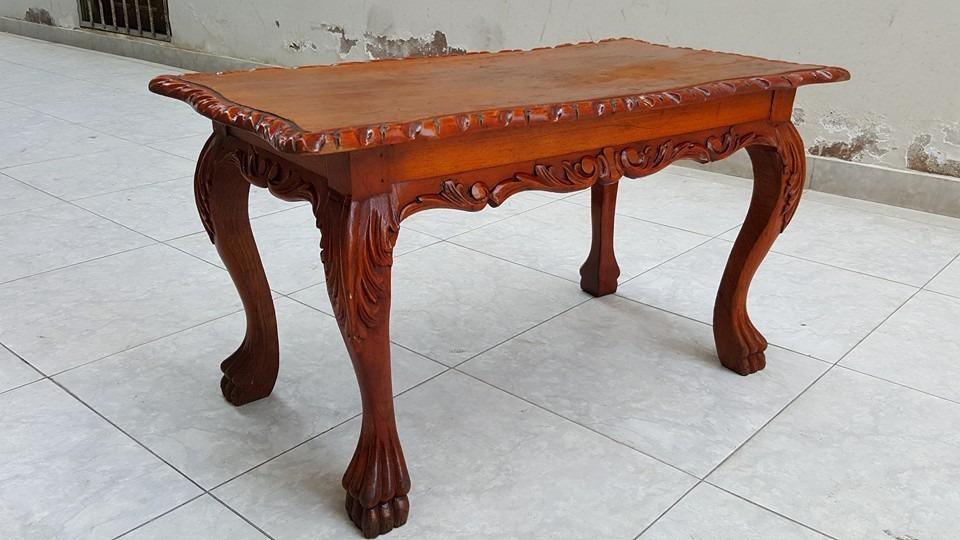 Antigua mesa de centros patas de leon cedro gratis envio for Mesas de centro antiguas