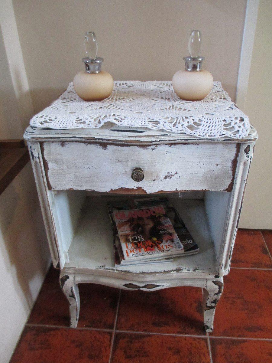 Mesas De Luz Antiguas Restauradas Vintage Muebles Antiguos En