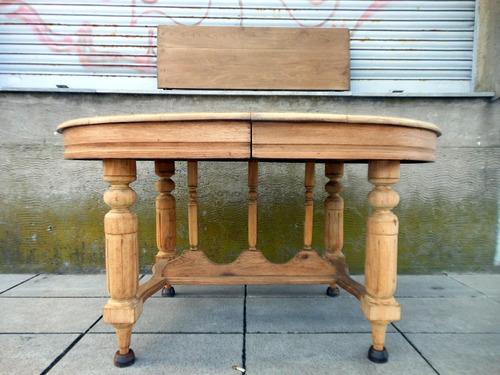 antigua mesa estilo inglés roble macizo lavado tabla alargue