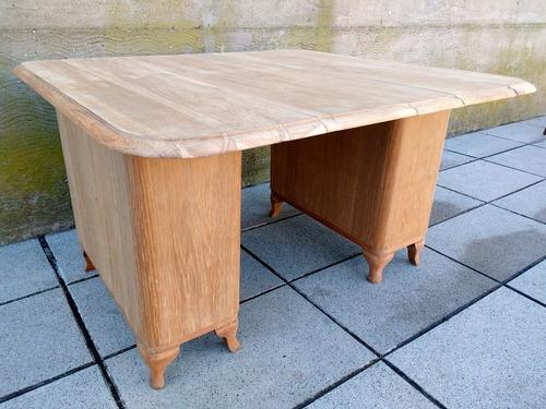 antigua mesa estilo moño baja (65cm), madera lavada de roble