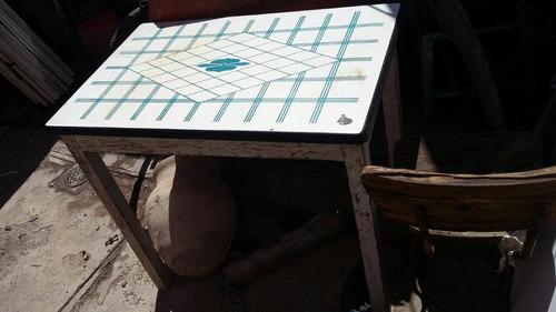 antigua mesa porcelanizada de coleccion antiguedades