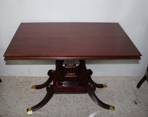 antigua mesa tipo lira princ siglo xx
