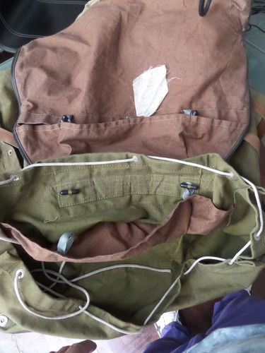 antigua mochila militar ruso lona delgada