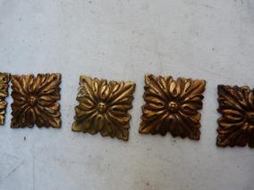 Antigua Moldura En Bronce Fundido Para Mueble