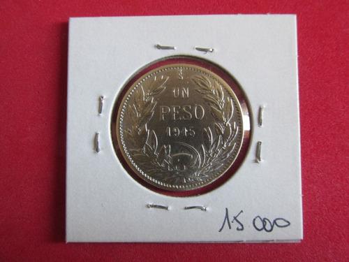 antigua moneda chile 1 peso de plata año 1915
