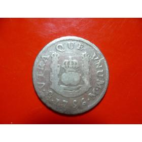 Antigua Moneda Columnaria De 1 R. Fernan. V I 1756. Plata.