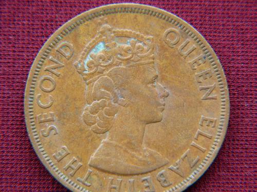 antigua moneda de 2 cents de british caribbean territories