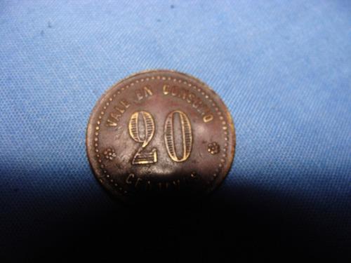 antigua moneda de pulperias de salitreras