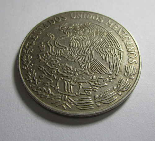 antigua moneda estados unidos mexicanos 5 pesos 1977