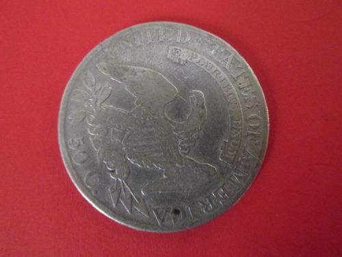 antigua moneda half dollar busto año 1826 de plata  escasa