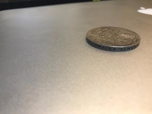 antigua moneda plata finlandia edición independencia